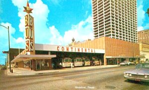 CONTINENTAL TRAILWAYS BUS STATION HOUSTON TEXAS 1950S